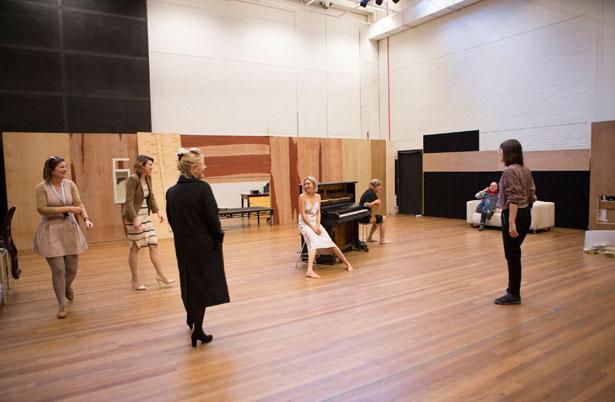 Hedda Gabler rehearsals