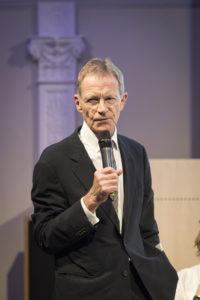 Nicholas Serota introduces the Nations on the World Stage symposium event. Credit Helen Maybanks_