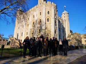 The cast of Richard III visit the Tower Of London.